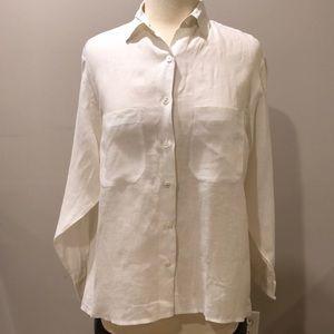 Banana Republic Safari & Travel Linen Shirt Sz S